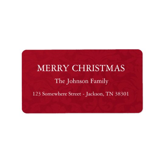 Red Vintage Holiday Labels