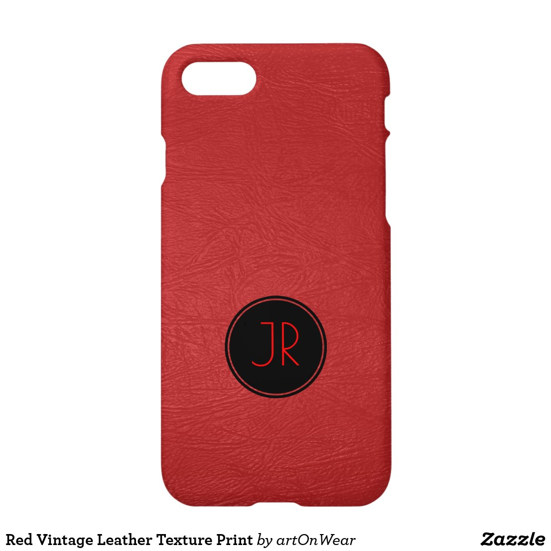Red Vintage Leather Texture Print