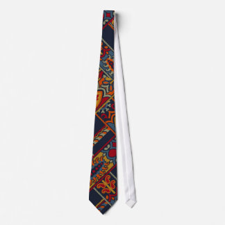 Red Vintage Pattern Colorful Paisley Christmas Tie