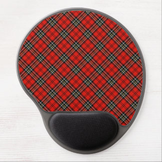 Red Vintage Plaid Gel Mouse Pad
