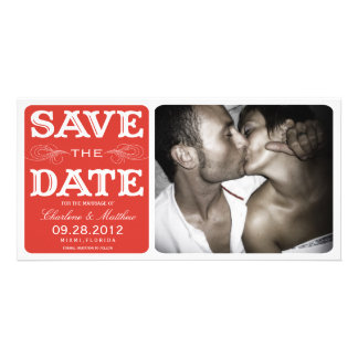 RED VINTAGE  | SAVE THE DATE ANNOUNCEMENT CARD
