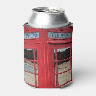 Red Vintage Telephone Box, Can Cooler
