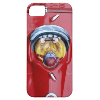 Red vintage tin toy race car barely there iPhone 5 case