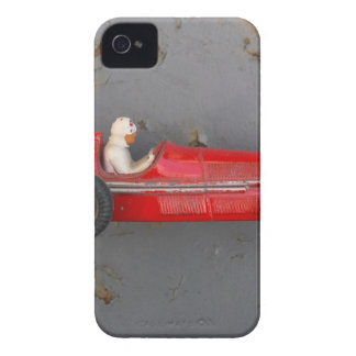 Red vintage toy car iPhone 4 cases
