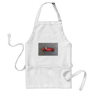 Red vintage toy car standard apron