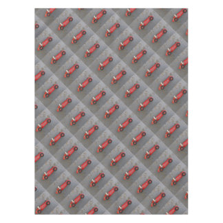 Red vintage toy car tablecloth