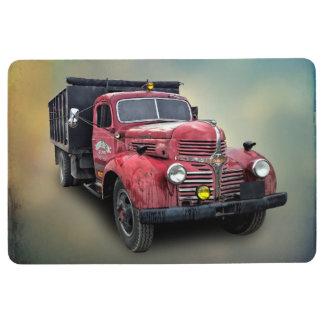 RED VINTAGE TRUCK FLOOR MAT