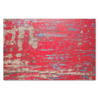 Red Vintage Wood Tissue Paper