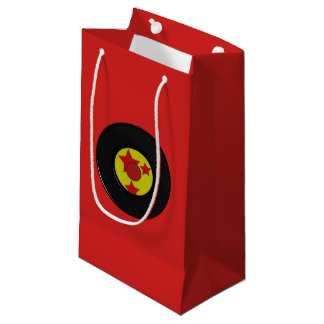 Red Vinyl Record. Small Gift Bag