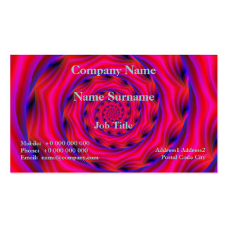 Red Violet and Blue Spiral Business Card Templates