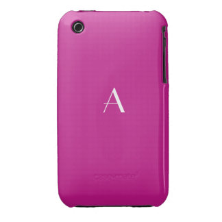 Red Violet iPhone 3G/3GS Case Monogram iPhone 3 Covers