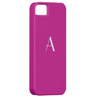 Red Violet Monogram iPhone 5 Case