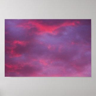 Red-Violet Sunset Sky Poster