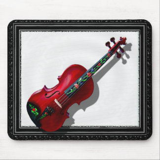 RED VIOLIN -MOUSEPAD-IN BLACK FRAME MOUSE MAT