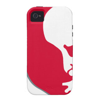 Red Vladimir Ilich Lenin stencil silhuette Case For The iPhone 4