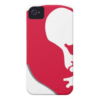 Red Vladimir Ilich Lenin stencil silhuette Case-Mate iPhone 4 Cases