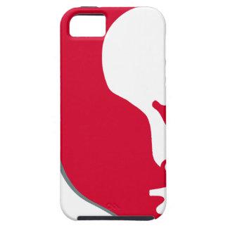 Red Vladimir Ilich Lenin stencil silhuette iPhone 5 Cases