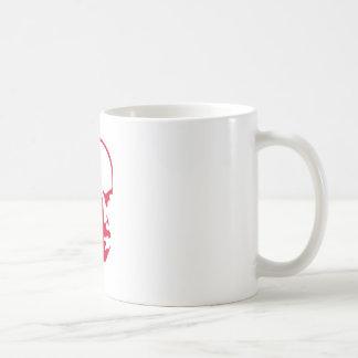 Red Vladimir Ilich Lenin stencil silhuette Basic White Mug