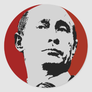Red Vladimir Putin Classic Round Sticker