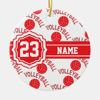 Red Volleyball | DIY Name and Number Christmas Ornament