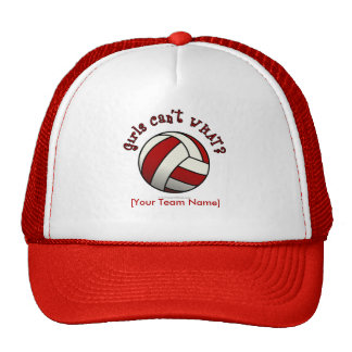 Red Volleyball Mesh Hats
