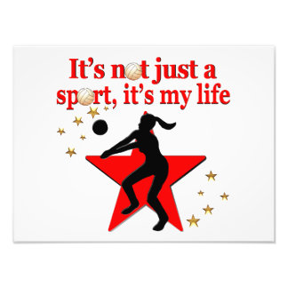 RED VOLLEYBALL IS MY LIFE DESIGN PHOTO
