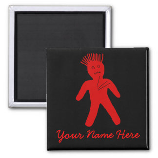 Red Voodoo Doll Magnet