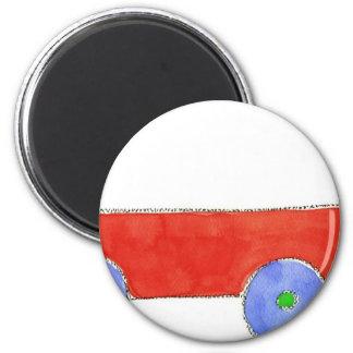 Red Wagon Fridge Magnets