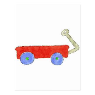 Red Wagon Postcard