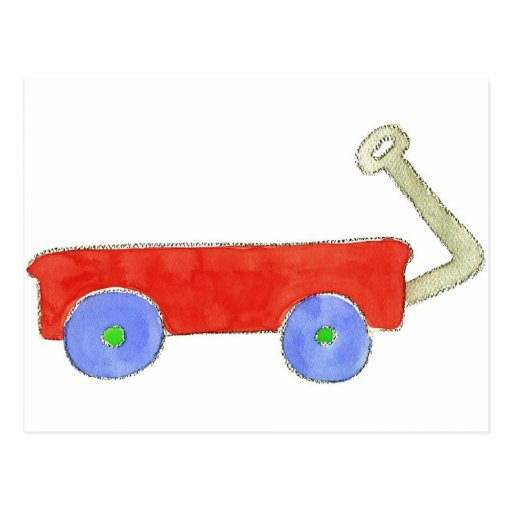 Red Wagon Post Cards