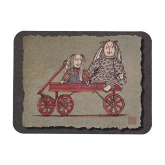 Red Wagon, Rabbit & Dolls Flexible Magnet