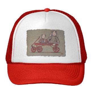 Red Wagon, Rabbit & Dolls Trucker Hats