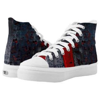 Red Walkers Printed Shoes