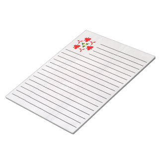 Red wall abstract pattern notepad