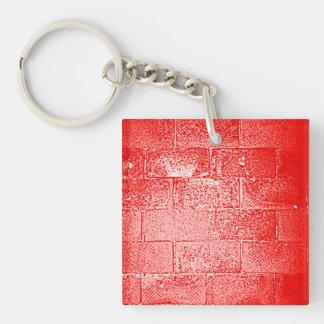Red Wall. Digital Art. Key Ring
