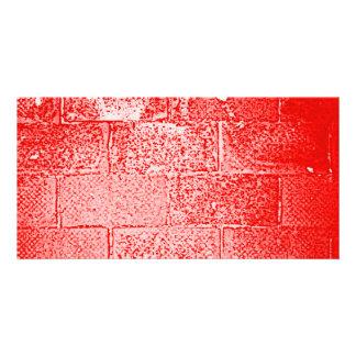 Red Wall Digital Art Photo Card Template