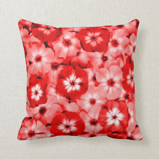 Red Wall Flower Throw Pillow Throw Cushion