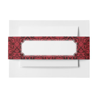Red wallpaper 2 invitation belly band