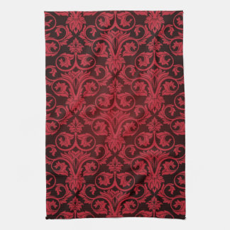 Red wallpaper 2 tea towel