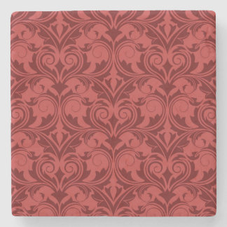 Red Wallpaper Stone Coaster