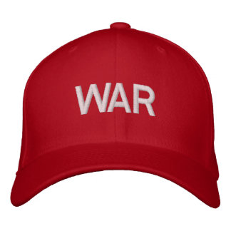 red war hat. embroidered baseball caps