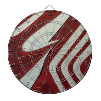 Red warp dartboard