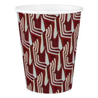Red warp paper cup
