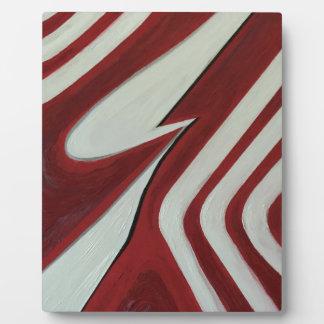 Red warp plaque