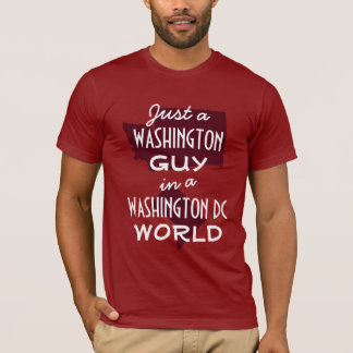 Red Washington State Guy in DC T-Shirt
