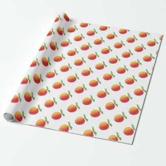 Red watercolor apples, wrapping paper