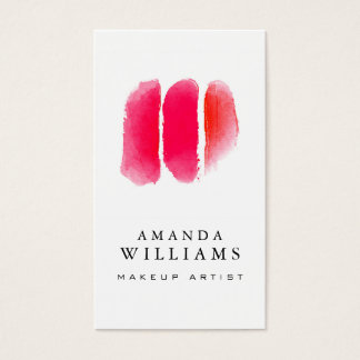 Red Watercolor Makeup Artist Swatches
