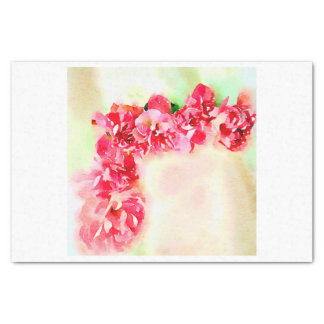 Red Watercolor Roses for corner decoupage Tissue Paper
