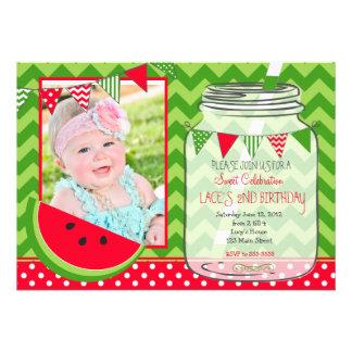 Red Watermelon birthday invitation