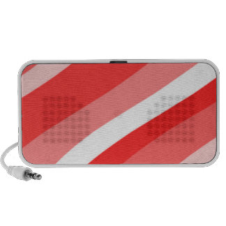 Red Waves Laptop Speakers